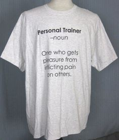 f26407e8 The Definition of a Personal Trainer Adult X-Large Gray T-Shirt ( XL