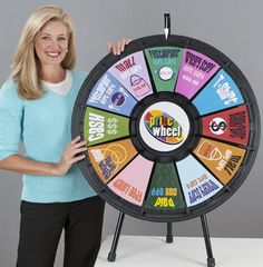 12 slot black tabletop prize wheel by games people play. Casino Theme Parties, Party Themes, Show Plates, Prize Wheel, Pineapple Images, Game Costumes, Carnival Games, Trade Show, Bat Mitzvah