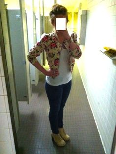 I've been waiting two years for florals to be in. This jacket is finally relevant.