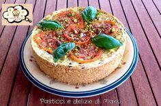 CHEESECAKE DI CACIORICOTTA CON POMODORINI OLIVE E PISTACCHI  Buona...cremosa...un gusto avvolgente. Vi piace ?? Se volete provare il gusto ricco di questa ricetta vi lascio qui il link : http://blog.giallozafferano.it/pasticciedeliziedimanu/cheesecake-di-cacioricotta-con-pomodorini-olive-e-pistacchi/