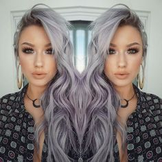 Light Purple Mermaid Hairstyle