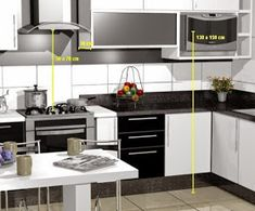 Ergonomia cozinha Kitchen Cabinets, Decor, Furniture, Table, Kitchen, Home, Cabinet, Home Decor