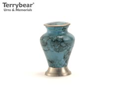 Terrybear Blue Marble Glenwood Keepsake. This Keepsake can hold a small amount of cremated remains.