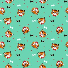 Bowtie Tiger fabric by emandsprout on Spoonflower - custom fabric