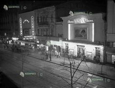 Bucuresti, b-dul 6 Martie, 1956 (b-dul Elisabeta) Bucharest Romania, Old Photos, Broadway, Nostalgia, Cinema, Memories, City, Dan, Buildings
