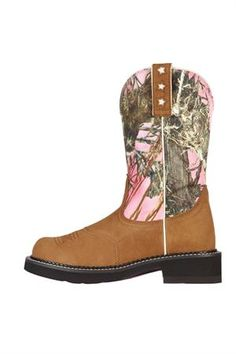 Ariat Boots Women's Pink Timber Camo Probaby Cowgirl Boots. This style looks soo comfy.