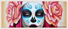 A personal favorite from my Etsy shop https://www.etsy.com/listing/564120484/day-of-the-dead-20x60-acrylic-painting