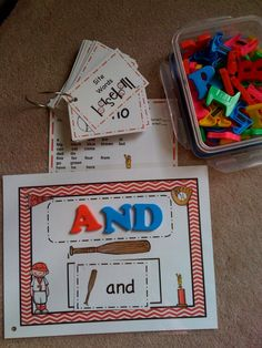 Preschool Printables: Free Baseball Site Words for Kindergarten
