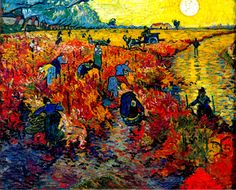 The red Vineyard by Vincent van Gogh. This is the only painting he ever sold during his life time. It sold in Brussels for 400 Francs only a few months before his death.