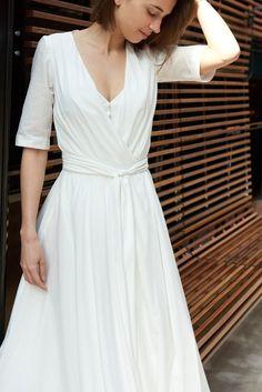 c2bf59dd8249b La robe de mariée La Merveilleuse en voile de coton - 1300€ de la collection