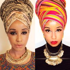 November 20 is National Headwrap Day. Many folks took to social media to share their flawlessly wrapped crowns. Although, how the recognized day came about is not immediately known, people have bee… Hair Wrap Scarf, African Head Wraps, Turban Style, Scarf Hairstyles, Black Hairstyles, Bad Hair Day, Black Is Beautiful, Scarf Styles, African Fashion