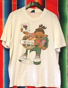 Vintage Black College Cross Colors 1990s T by shopfullcourtpress