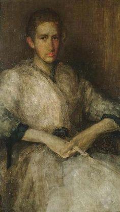 Portrait of Ellen Sturgis Hooper James Abbott McNeill Whistler - 1890 American Poets, American Artists, Impressionist Paintings, Impressionism, Leicester, James Abbott Mcneill Whistler, Art Database, Oil Painting Reproductions, Art For Art Sake