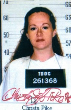 In 1996, 19-year-old Christa Pike was sentenced to death for the murder of  Colleen Slemmer  from Knoxville, Tennessee. After killing her with a blow to the head, Pike took a piece of Colleen's scalp as a souvenir. She was the youngest person on death row at age 21.  On August 24, 2001, Pike strangled inmate Pat Jones with a shoe string nearly choking her to death.  She was convicted of attempted first degree murder on August 12, 2004.  She is currently the only woman on Tennessee's Death Ro...