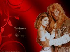 Wallpaper of Catherine & Vincent for fans of Beauty and the Beast TV Show. 'Catherine & Vincent' wallpaper created by me features Linda Hamilton as Catherine Chandler and Ron Perlman as Vincent from the 1987 TV series 'Beauty and the Beast'