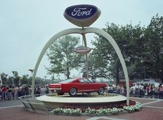 Fifty years ago, the Ford Motor Company debuted its iconic Mustang at the 1964 World's Fair in New York City. Take a look back at the history of the all-American sports car. Ford Mustang Shelby, First Mustang, Mustang Club, Red Mustang, 1965 Mustang, Mustang Fastback, Ford Mustangs, 2014 Mustang, S550 Mustang