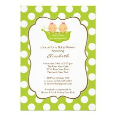 345 best twins baby shower invitations images on pinterest twin twins girls baby shower invitation little pea pod filmwisefo