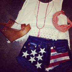 Perfect July 4th Outfit! Www.shopellableu.com