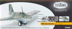 Messerschmitt ME-163 Komet 1-48 Testors by Tetsors. $7.18. Recommended for Experienced Modelers Ages 10 and Over.. Paint,Cement and Hobby Accessories Required ,but NOT INCLUDED,Needs Assembly. Includes Authentic Markings and Take Off Doly. 1/48 Scale. This kit features 21 parts molded in light grey and clear with raised and recessed panel lines. Cockpit detail includes: seat, pilot figure and instrument panel with decals for panel and internal armoured glass plate....