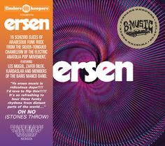 "Ersen | Ersen | BMS010 | 16 schizoid slices of Arabesque Funk Rock from the silver-tongued chameleon of the electric Anatolia Pop Movement.  Featuring Les Mogul, Zafer Dilek. Kardaslar and members of The Baris Manco Band.      ""Yo Ersen music is ridiculous dope!!!! I'd love to flip this!!!!!"" OH NO (STONES THROW)"