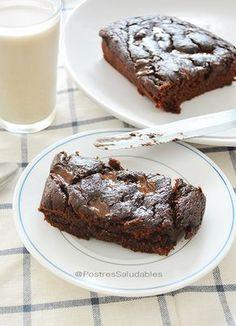 Postres Saludables | Brownie de banano Saludable | http://www.postressaludables.com