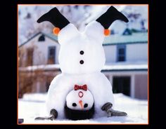 Snow headstand.