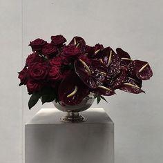 Table Flowers, Cut Flowers, Dried Flowers, Pretty Flowers, Deep Red Wedding, Ikebana Sogetsu, Flower Arrangements Simple, Wedding Hire, Homemade Products