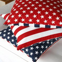 American Flag Pillow Cover 20x20 or 12x20, Patriotic Pillow, July 4th Decor, Stars and Stripes Pillow • Red, White and Blue Collection by ChloeandOliveDotCom on Etsy https://www.etsy.com/listing/152854599/american-flag-pillow-cover-20x20-or