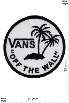"""Patch - VANS """"off the Wall"""" - round - Cool Brands Patch - Streetwear - Vintage - Vest - Iron on Patches - Embroidered Applique - Compilation: Amazon.ca: Home & Kitchen"""