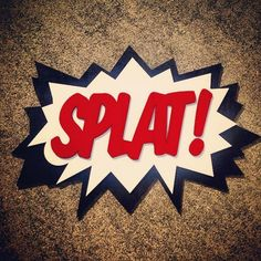 LARGE Comic book SPLAT Wall Art This wall art is made for anywhere in your home at work or whereever you want to add a little fun It has an Wall Art Quotes, Quote Wall, Wooden Words, Typography, Comic Books, Woodworking, Comics, Handmade Gifts, Fun