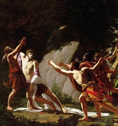 Detail : Death of Gaius Gracchus. 1792. Francois Topino Lebrun. French. 1764-1801. oil on canvas.