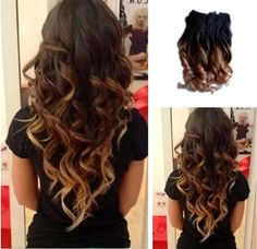 How cute it is!! Change your hair style instantly with the help of ombre hair extensions. Pick up the details for yourself.