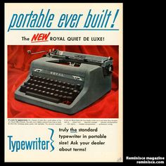 1950s typewriter - Vintage ad-I learned how to type at home during my summers. Yes, my mother made me do it. {g.}