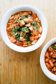 Linsegryte med smørbønner og ovnsbakt søtpotet Chana Masala, Clean Eating, Curry, Vegan, Ethnic Recipes, Mad, Clean Meals, Eat Healthy, Curries