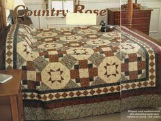 Country Rose Quilt Pattern Pieced RN