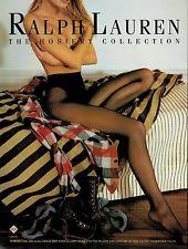 1993 RALPH LAUREN   HOSIERY Collection Nice legs Magazine   PRINT AD