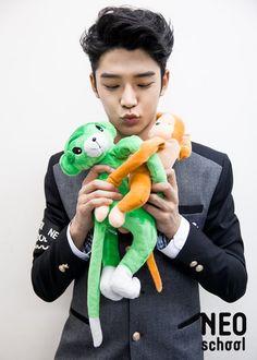 Kim Ro Woon on Check it out! Neoz School, Kang Chan Hee, Young Kim, Sf 9, Fnc Entertainment, Seong, Kpop Boy, Boy Groups, Dinosaur Stuffed Animal