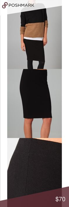 "Vince Boucle Pencil Skirt SOLD OUT in stores. Like New!! This bouclé skirt features a covered elastic waistband. Color: black. Size Medium.  * 23"" long. * Fabrication: Bouclé. * 59% viscose/33% nylon/8% elastane. * Dry clean. * Made in the USA. Vince Skirts Pencil"