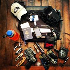 Some travelers take cameras and music on their weekend trips abroad. Others take... um... weapons.