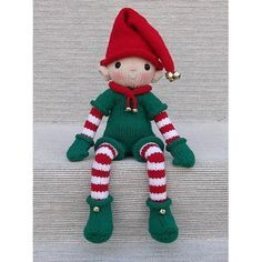 Knitted Christmas Decorations, Christmas Crochet Patterns, Christmas Toys, Christmas Ornaments, Xmas, Christmas Things, Crochet Christmas, Red Christmas, Knitted Dolls