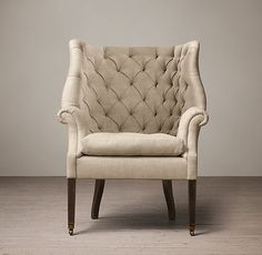 19th c english wing chair