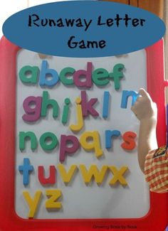 This fun Runaway Letter game helps kids identify the letters of the alphabet, learn letter sounds in a kinesthetic activity.