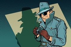 Find Detective Spy Shadow Comic Cartoon Pop stock images in HD and millions of other royalty-free stock photos, illustrations and vectors in the Shutterstock collection. Thousands of new, high-quality pictures added every day. True Detective, Graphic Design Typography, Graphic Design Art, Desenho Pop Art, Pikachu, Illustrations, Digital Illustration, Spy, Illustration