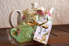Adorable teapot cookies at a Tea Party! See more party ideas at CatchMyParty.com! #partyideas #teaparty