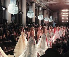 Zuhair Murad Spring/Summer 2016 Haute Couture runway finale at Paris Fashion Week.