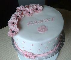 """""""Danke schön"""" Torte in pink/weiß"""