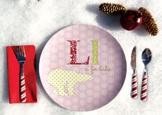 Personalized Girl Holiday Plate Polar by Dylbug on Etsy, $20.00
