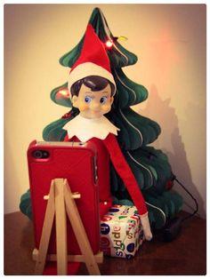 Elf on the Shelf: Elf selfies ~ December 2013.