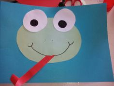 A frog made with paper