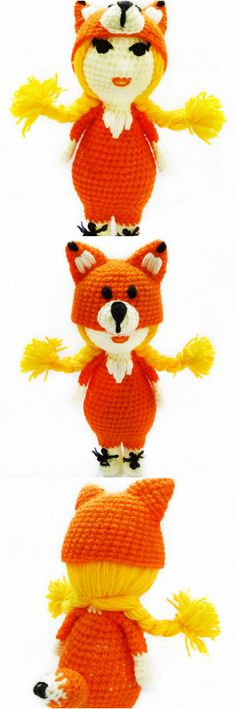 Foxy girl crochet toys with love crochet toys Fufoni